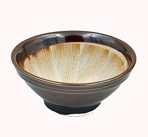 JinShi Studio Keramik Mörser Suribachi aus Japan, Reibschale Schleifschale Mortar, braun, ca.12.5 x 12.5 x 5.5 cm