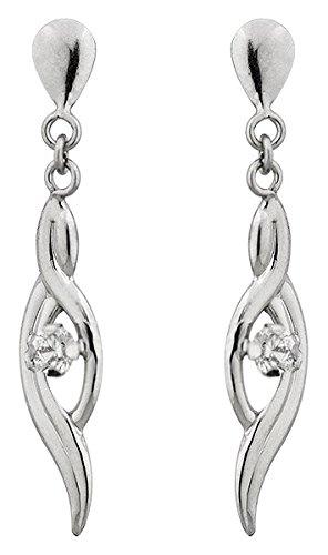 Orleo - REF6697BB : Boucles d'oreille Femme Or 18K blanc et Oxyde de zirconium
