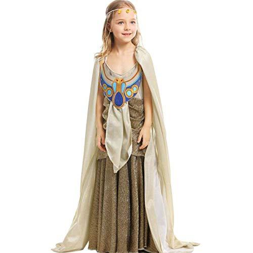 Ägyptische Cleopatra Kind Kostüm - QWE Halloween Kostüm altägyptischen Mythologie Kleid COS ägyptischen Pharao Kindertag Leistungskostüm