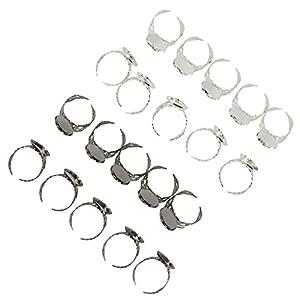 Homyl 20 x DIY Ring Lünette Basis, Perlen & Cabochon Behälter -Schmuck Herstellen