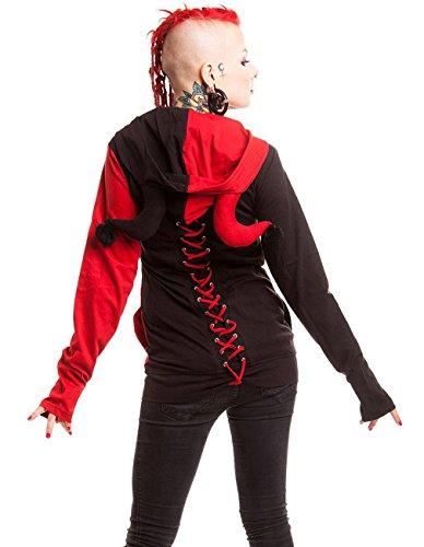Cupcake Cult Damen Harlekin Kapuzenjacke - Jester Hood Jacke mit Maske Mehrfarbig