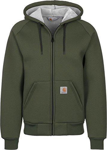 Carhartt, Car-Lux Hooded Jacket - felpa da uomo, colore cypress/grey, taglia L