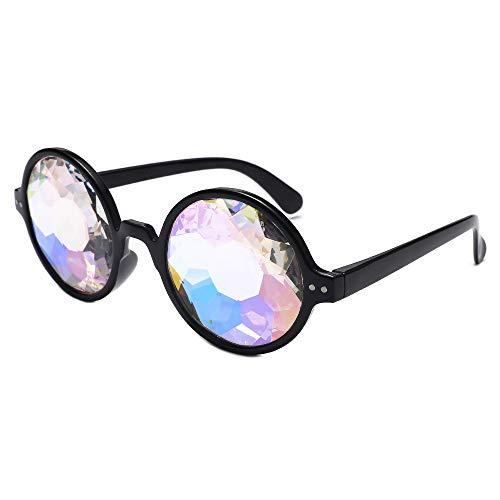 iCerber sonnenbrillen Chic Lässig Einzigartig Mode gebeugt Unisex visuelle Erfahrung Foto Requisiten Party Glas UV 400 ❀❀2019 Neu❀❀(Schwarz)