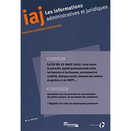 Informations administratives et juridiques n°04-2012