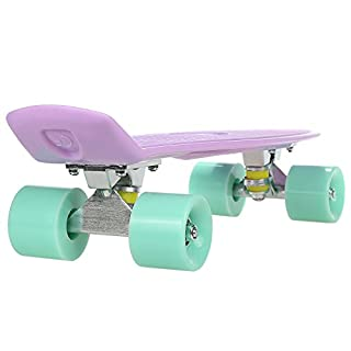 ANCHEER Skateboard for Beginners, Support 220Lbs