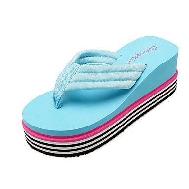 zhENfu donna pantofole & amp; flip-flops Primavera Estate Liane Comfort Novità materiali personalizzati Office & amp; Carriera Abbigliamento Sportivo tacco piatto Pool