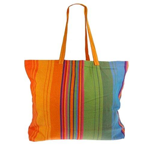 Textiles Fairtrade , Borsa da spiaggia  multicolore caraibi Quercia Colorado