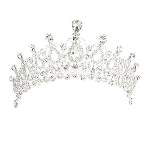 FENICAL Kristall Haarband Krone Tiara Haarspange für Hochzeit