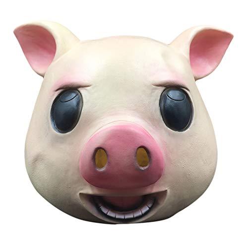Skryo Komische Maske Maskerade Schweinskopfmaske Animal Cosplay The Latex Mask (Verkauf Für Maskerade-maske)
