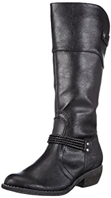Rieker 92959-00, Damen Langschaft Cowboystiefel, Schwarz (schwarz/schwarz / 00), 39 EU (6 Damen UK)