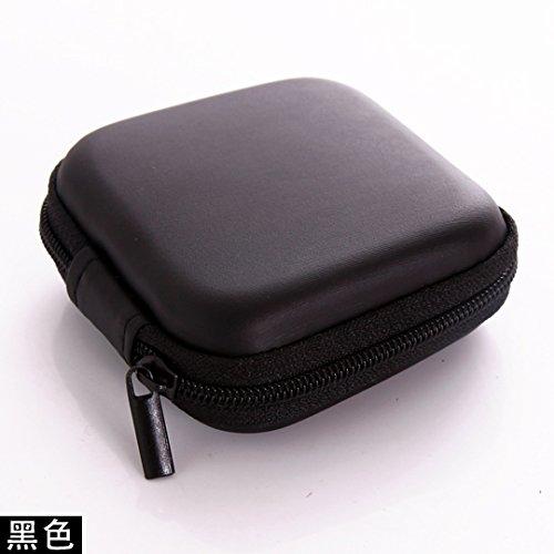 AAPP SHOP Datenkabel Tasche Mini Portable Headset Tasche Anti-Spannung Ladekabel Handy Ladegerät schlichten Paket, schwarz