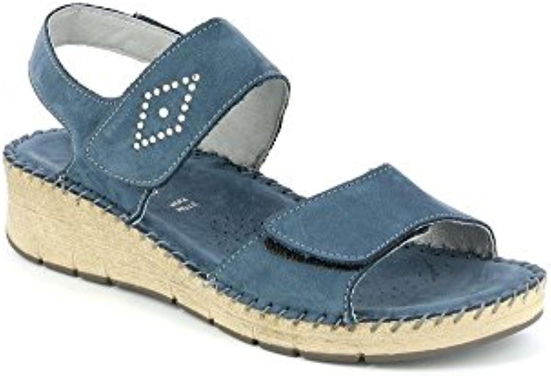 GRUNLAND SA1579 PALO Sandalo Sandalo Sandalo Donna P. Blu 40 | prendere in considerazione  9a1450
