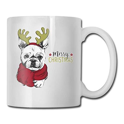 Daawqee Becher Coffee Mug Merry Christmas Ceramic Mug/Cup Cute Coffee Mugs Ceramic Travel Mug Tea Mug,330ml (White)