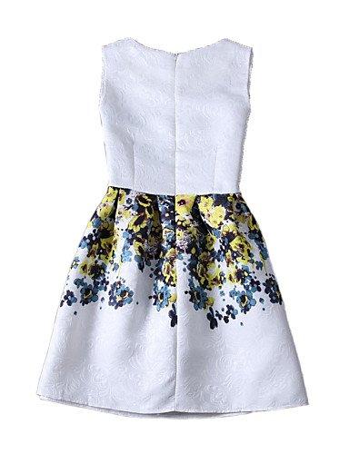PU&PU Robe Aux femmes Gaine Vintage / Street Chic,Imprimé Col Arrondi Au dessus du genou Polyester GREEN-S