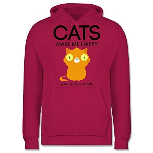 Katzen - Cats make me happy - you not so much - Männer Premium Kapuzenpullover / Hoodie Fuchsia