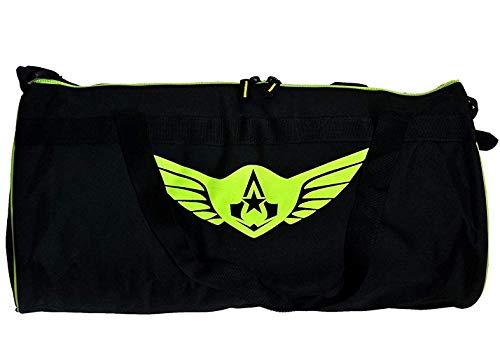 AUXTER Polyester Large Black Gym Bag with Zip Closure (49x23x23cm)