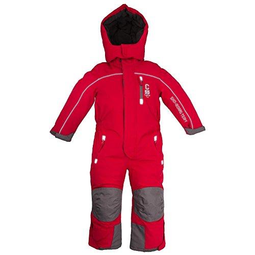 Outburst Kinder Ski Overall Rot Größe 98 Wasserdicht Atmungsaktiv - Schneeanzug Skianzug