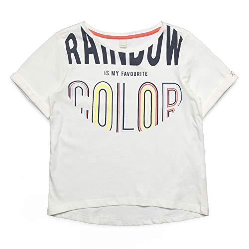 ESPRIT KIDS Mädchen Short Sleeve Tee-Shirt T-Shirt, per Pack Weiß (Off White 110), 170 (Herstellergröße: XL) -