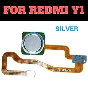 (HUKATO.COM) Fingerprint Thumb Print Touch Sensor Reader Flex Cable Connector Compatible for Xiaomi Redmi Y1 - Silver