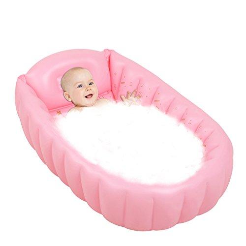 Seso uk- gonfiabile bagnetto (per 0-5 anni), mini piscina esterna kid infantili spesso pieghevole piatto doccia con cuscino sede morbida centrale ( colore : rosa )