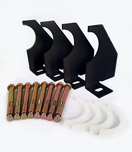 Universal-Heizkörper-Halterung, vertikale Säulen, 75 mm, Schwarz -