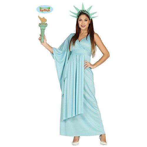 NET TOYS Freiheitsstatue Kostüm Lady Liberty Damenkostüm M (38/40) Statue of Liberty Kleid Griechinkostüm Antike