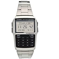 Casio Collection Reloj Digital Unisex con Correa de Acero Inoxidable – DBC-32D