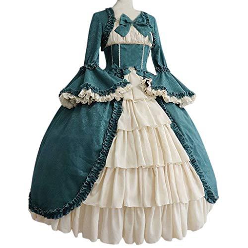 Butterfly Sleeveless Jersey (Binggong Damen Steampunk Gothic Maxikleider Frau Vintage BallkleidPartykleid Kostüm Teufelchen Cosplay Bekleidung Patchwork Bow Dress)