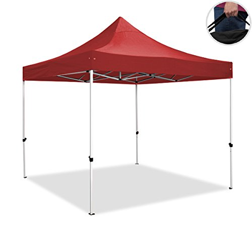 regalosMiguel - Carpa Plegable 2x2 FORCE Rojo con Bolsa de Transporte
