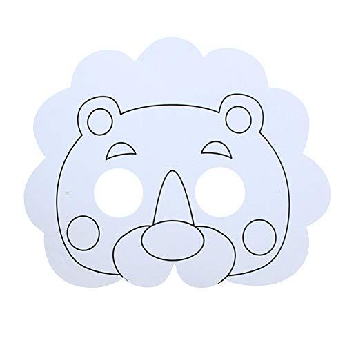 SMARTRICH Maske für Kinder, Tier-Masken, Weiß, löwe, 27 * 17 (Maske Kostüm Löwe)