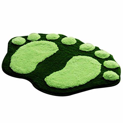 Weiße Blumen Bereich Teppich (VENMO Soft Feet Memory Foam Bad Badezimmer Schlafzimmer Boden Duschmatte Teppich Badematte rutschfest Badezimmer Dusche Teppiche Shaggy Holzbadematte Holzmatte Duschvorleger Badematte Bade-Teppich (Green))
