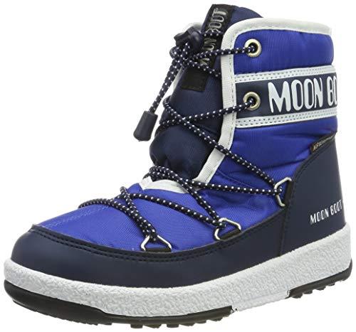 Moon-boot Jungen Jr Boy Mid Wp Schneestiefel, Blau (Blu 002), 34 EU