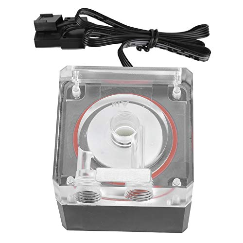 Pompa di raffreddamento ad acqua, PC Raffreddamento ad acqua Supporto muto integrato Pompa dell\'acqua Supporto PWM Velocità di controllo intelligente, porta D + interfaccia a 4 pin, per tutte le impos