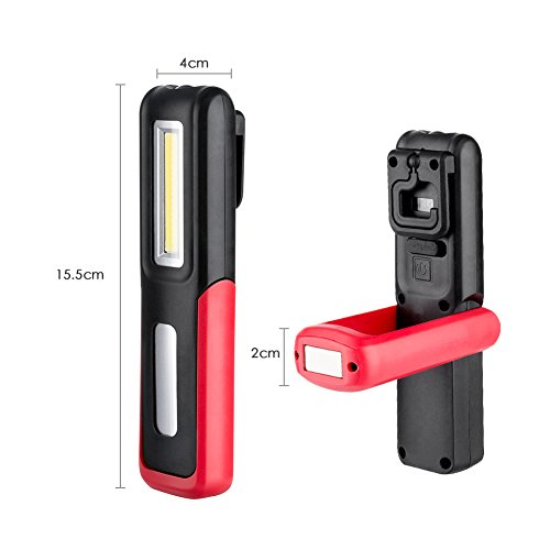 415aB0YM7aL. SS500  - Rechargeable LED Torch, Magnetic Flashlight Inspection Lamp, COB Work Light with Battery Indicator, Magnetic Base and…