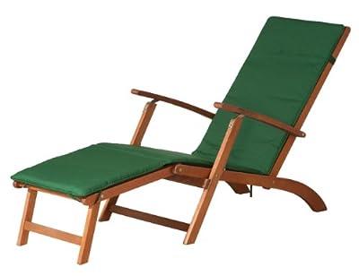 SIENA GARDEN Albury Deckchair Kissen grün Akazienholz FSC 100%