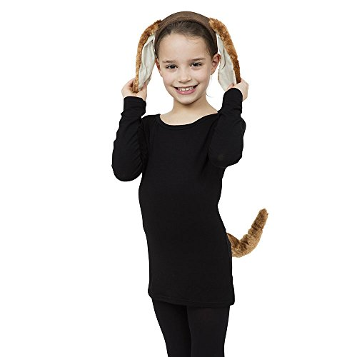 Dog Set Ears and Tail costume Kids Fancy Dress (Fancy Kostüme Dress-hund)