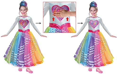 amscan 9902622 Kinderkostüm Barbie Rainbow Magic Deluxe, Mehrfarbig, 3-5 (Deluxe Barbie Kostüm)