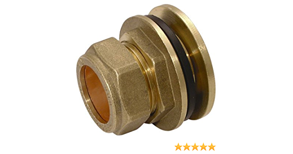 6 x New Compression Tank Connector 28mm Brass plumbing fittings