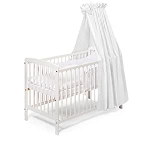 koko babybett julia komplett 120x60 cm weiss baby. Black Bedroom Furniture Sets. Home Design Ideas