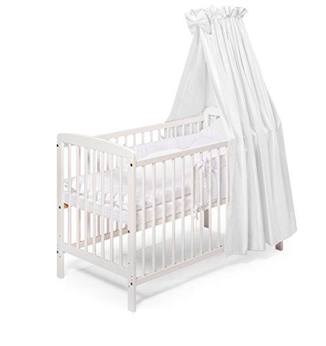 KOKO Babybett JULIA weiss Komplett 120x60 cm -
