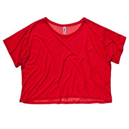Bella Damen T-Shirt Boxy Leinwand 8881 Rot - Rot