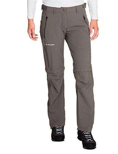 VAUDE, Damen Hose Farley Stretch Zip Off T-Zip Pants, Braun (Coconut), Gr. 46 normal