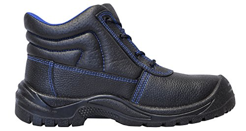 KERMEN - Bottes de sécurité S3 SRC Hautes Semelle anti-dérapante Chaussures de sécurité Noir - Leon