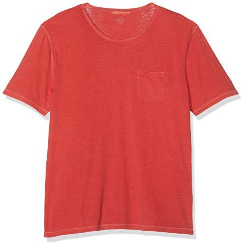 4e5f2b89ec22 Camel Active T-Shirt 1/2 Camiseta, Rojo (Dark Coral Core 44), Medium para  Hombre
