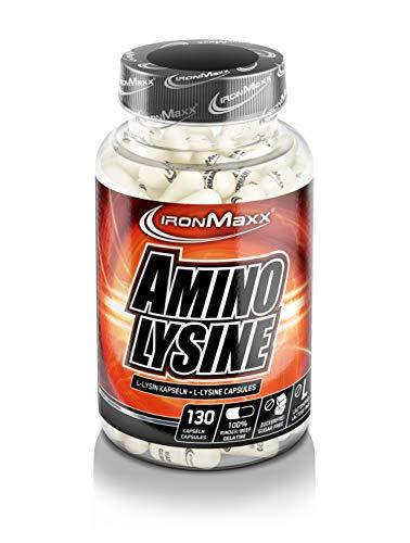 IronMaxx Amino Lysine – Kapseln mit der essentiellen Aminosäure L-Lysin - Unterstützen den Fettstoffwechsel & Muskelaufbau effektiv – 1 x 130 Kapseln