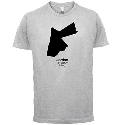 Jordan / Jordanien Silhouette - Herren T-Shirt - 13 Farben Hellgrau