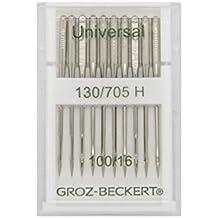Groz-Beckert 10 Paquete Universal de Agujas 130/705H con Plano pistón y Punta
