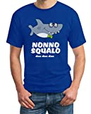 Shirtgeil Nonno Squalo, Idea Regalo Canzone Bimbi per Famiglie Maglietta da Uomo XX-Large Blu