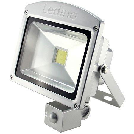Ledino LED-Flutlichtstrahler, HF-Sensor, 20 Watt Epistar-LED, silber Warmweiß