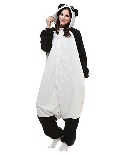 Tier Onesie Kostüme Kigurumi Panda Pyjama Schlafanzug Erwachsene Unisex Mann Dame Cosplay Jumpsuit Onesie XL